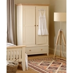 Camden Painted Double Wardrobe with Drawer 1024.021.8