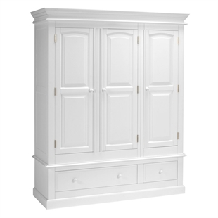 Provence Painted Triple Wardrobe