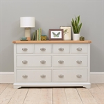 New England Light Grey 4 over 4 Drawer Chest 1036.026_laiwo4mv