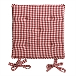 Set of 4 Red Check Seat Pads 104.105.2