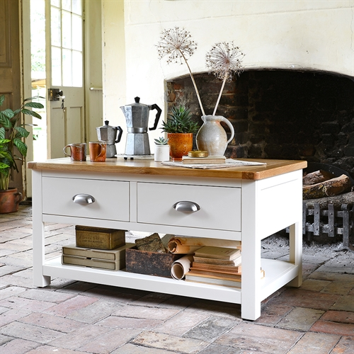 Somerset Painted Coffee Table With Drawers