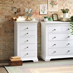 Venice White Tall 5 Drawer Chest 1041.004_edxjyu43