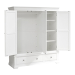 Venice White Triple Wardrobe Bedroom Set 1041.015_dmavjnal