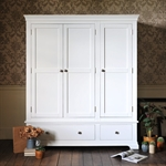 Venice White Triple Wardrobe Bedroom Set 1041.015_kft8s9l1