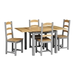 Stanton Grey 90-155cm Ext Table and 4 Chairs 1042.014_n69u7tmq