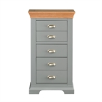 Sandringham Grey 5 Drawer Slim Jim 1043.004_n34gplc3