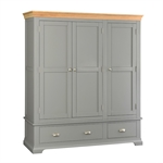 Sandringham Grey Triple Wardrobe Bedroom Set 1043.015_oifk2wyo