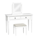 Stratford White Painted Dressing Table Set 1045.015_hl3a8rka