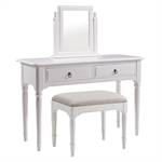 Stratford White Painted Dressing Table Set 1045.015_mcfzwy8r