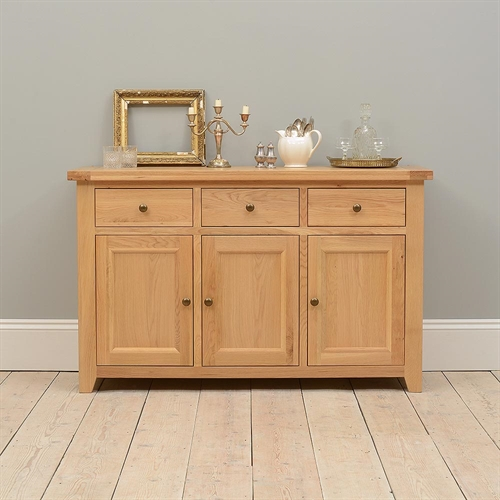 Edinburgh Oak Large Sideboard Including Free Delivery
