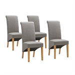 Edinburgh Oak 125-165cm Ext. Table with 4 Grey Chairs 1050.021_ke1ajdfz