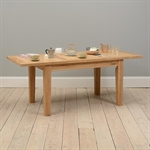Edinburgh Oak 138-203cm Ext. Table with 6 Brown Chairs 1050.022_n3f7bufu