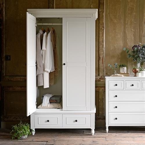 Malvern Painted Double Wardrobe