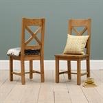 Harrogate Oak Cross Back Dining Chair 121.001_kgil3ioe