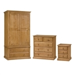 Cheshire Pine Double Wardrobe Bedroom Set 240.021.1