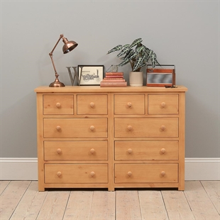 Oxbury Pine 10 Drawer Double Chest