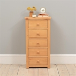 Oxbury Pine Slim Jim 5 Drawer Chest 241.007_b0nbyg57