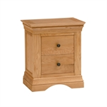Constance Oak 2 Drawer Bedside Table 294.002.1