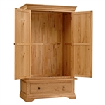 Constance Oak Double Wardrobe with Drawer 294.017.3