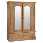 English Heritage Pine Bedroom Set with Double Wardrobe 310.252N.2