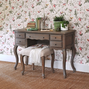 Brittany Limewash Oak Dressing Table Stool