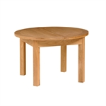 Light Oak 120-160cm Table and 4 Brown Straightback Chairs 340.032.2
