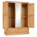 Dalton Oak Bedroom Set with Triple Wardrobe 350.018.10