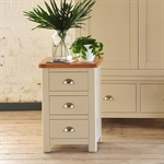 Hampstead Stone Grey 3 Drawer Bedside 390.004.2