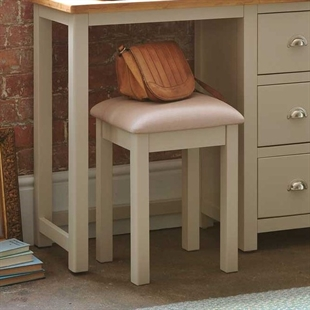 Hampstead Stone Grey Dressing Table Stool