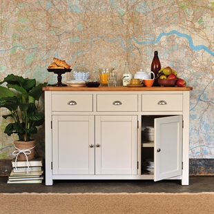 Hampstead Stone Grey Large Sideboard