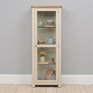 Hampstead Stone Grey Display Cabinet