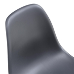 Set of 4 Eames Inspired Chairs - Charcoal Grey 391.007_m5v73263