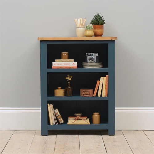 Hoxton Blue Small Bookcase