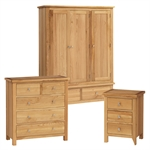 Quercus Oak Triple Wardrobe Bedroom Set 508.019_w36akm0o