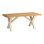 Pacific Painted 190cm Cross Leg Dining Table 583.014_wzf801jo
