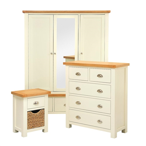 Pacific Painted Triple Wardrobe Bedroom Set