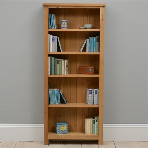 Salisbury Petite Oak Bookcase including free delivery (596.073) | Pine  Solutions - Salisbury Petite Oak Bookcase Including Free Delivery (596.073