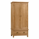 Salisbury Petite Oak Gents Double Wardrobe 596.084.2