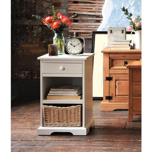 Middleton Painted 1 Drawer Bedside Cabinet - Ivory