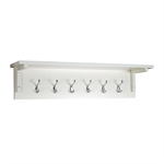 Middleton Painted Bench and Wall Hook Set - Ivory 603.044_qdq4gf93