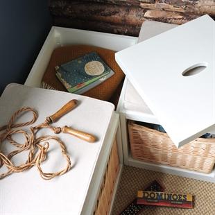 Middleton Painted Modular Storage Cube - Ivory