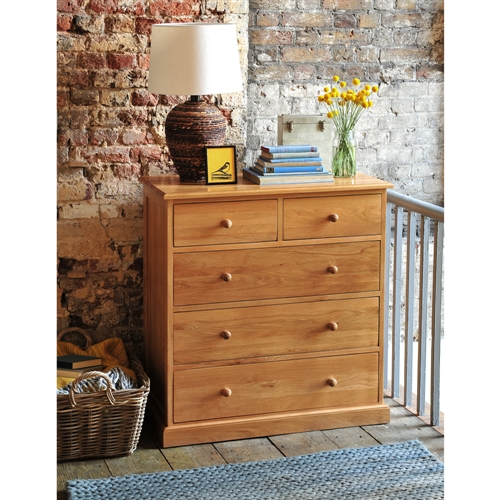 Georgian Oak 2+3 Chest of Drawers