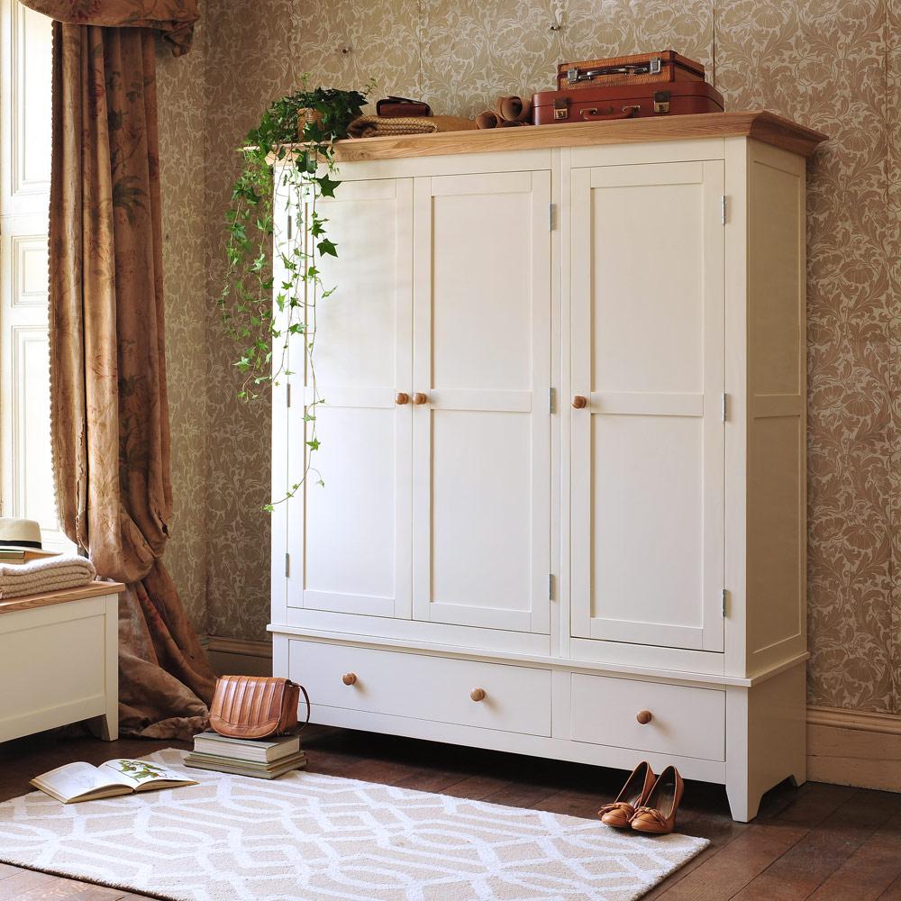 Ready Assembled Bedroom Furniture Uk Solid Pine Wardrobes Double Triple Gentlemans Ladies Wardrobes
