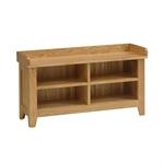 Rustic Oak Shoe Storage Bench and Cushion 608.032_0d9kjj1g