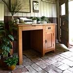 Rustic Oak Single Pedestal Desk 608.058_87xjpzpv