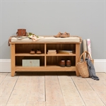 Rustic Oak Hallway Set with Bench 608.064_rwuod4pc