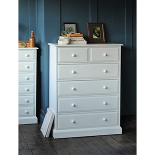 Provence Painted Chest of Drawers 2+4