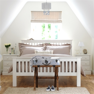 Provence Painted 4ft 6 Double Slatted Bed