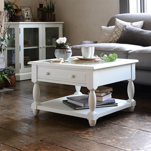 Provence Painted Open Display Coffee Table