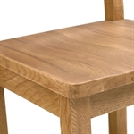Rustic Oak 90cm-155cm Ext. Table and 4 Ladderback Chairs 610.008.5